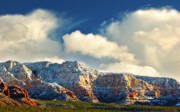Dan Turner Prints - Winter Sunset In Sedona Print by Dan Turner