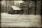 Barn Art - Winter Textures by Evelina Kremsdorf