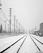 Winter Road Scenes Photo Prints - Winter Tracks Print by Tam Ishmael - Eizman