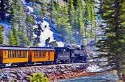 Durango Framed Prints - Winter Train Framed Print by Jeff Kolker