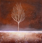 Minimalist Paintings - Winter Tree by Toni Grote