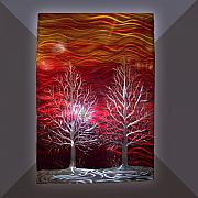 Waves Sculptures - Winter Trees by Jason  Krob