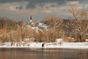 Winter Storm Prints - Winter View of Allenstown Print by Greg Fortier