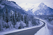 Winter Roads Photos - Winter View Of The Highway Surrounded by Klaus Nigge