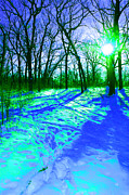 First Star Art Digital Art - Winter Walk  by First Star Art