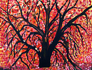 Tree Blossoms Paintings - Winter Warm by Suzeee Creates