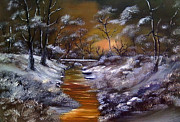 Drifting Paintings - Winter Warmth by Cynthia Adams