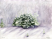 Ithaca Painting Prints - Winter Wind Print by Melly Terpening