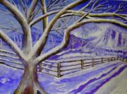 Snowy Trees Paintings - Winter Wonder by Shelley Bain