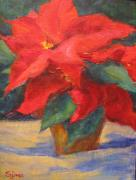 Potted Plant Paintings - Winter Wonder by Sylvia Carlton