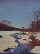 Snowy Painting Originals - Winter Wonderland by Frank Strasser