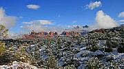 Sedona Prints - Winter Wonderland Print by Gary Kaylor