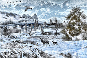 Winter Prints Digital Art Posters - Winter Wonderland Poster by Lourry Legarde