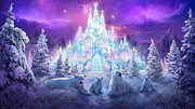 Fantasy Tree Mixed Media Metal Prints - Winter Wonderland Metal Print by Philip Straub