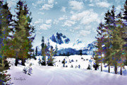 Idaho Scenery Posters - Winter Wonderland Poster by Suni Roveto