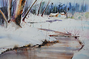 Snowy Brook Paintings - Winter Wonders by P Anthony Visco