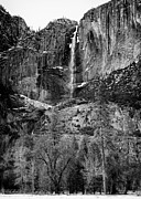 Nevada Falls Photos - Winter Yosemite Falls Yosemite National Park CA by Troy Montemayor