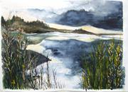 Jan Anderson Watercolors - Winterport Inlet by Jan Anderson