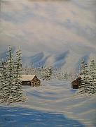 Snowy Trees Paintings - Winters Beauty by Todd Androy