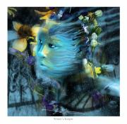 Surrealism Digital Art Metal Prints - Winters Keeper Of The Garden Metal Print by Bob Salo