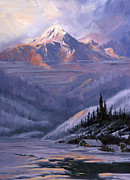 Mckinley Painting Prints - Winters Kiss Print by Kurt Jacobson