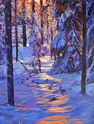Popular Paintings - Winters Light by David Lloyd Glover