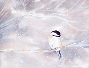Snow Capped Originals - Winters Nap Watercolor Painting by Michelle Wiarda