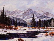 Blues Painting Originals - Winters Touch by W  Scott Fenton