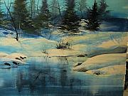 Winterscape Print by Robert Carver