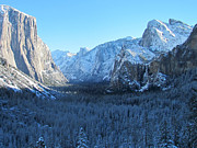 Bridalveil Falls Prints - Wintertime Print by Heidi Smith