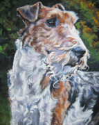 Fox Terrier Puppy Framed Prints - Wire Fox Terrier Framed Print by Lee Ann Shepard