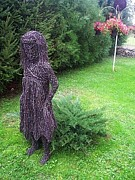 Landscapes Sculptures - Wire little girl by Leslie Komaromi