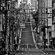 Road Marking Posters - Wire Street In Yushima Poster by Sinkdd
