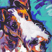 Fox Terrier Puppy Framed Prints - Wired Framed Print by Lea