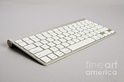 Wireless Technology Posters - Wireless Computer Keyboard Poster by Photo Researchers