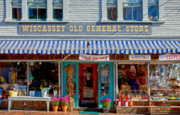 Country Store Metal Prints - Wiscasset General Metal Print by Susan Cole Kelly