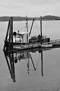 Catherine White Prints - Wiscasset Reflection Print by Catherine Reusch  Daley