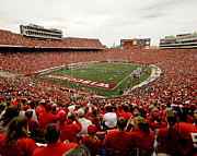 Wisconsin Posters - Wisconsin Badgers Play in Camp Randall Stadium Poster by Relpay Photos
