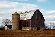 Shed Digital Art Metal Prints - Wisconsin Dairy Barn Metal Print by Ms Judi