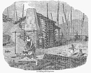 Log Cabin Prints - Wisconsin: Pioneers Home Print by Granger