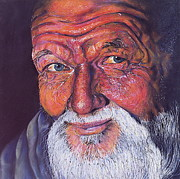Realism Pastels - Wisdom by Curtis James