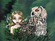 Big Eyed Art Framed Prints - Wise Companion Framed Print by Lindsey Cormier
