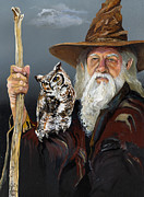 Owl Mixed Media - Wise Counsel by J W Baker
