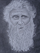 Jolly Drawings Prints - Wise Man Eyes. Print by Ron Verbeek