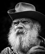 White Beard Metal Prints - Wise Man Metal Print by Ron  McGinnis