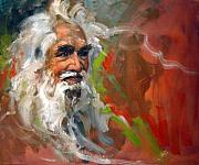Green Oil Paintings - Wise Old Man by Andrew Judd
