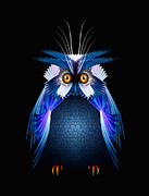 Aves Digital Art - Wise Old Owl by Julie L Hoddinott