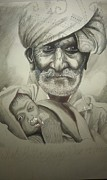 New Baby Art Drawings - Wise Or Innocent by Sandeep Kumar Sahota