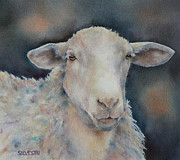 Nursery Room Art Prints Paintings - Wise Sheep by Teresa Silvestri