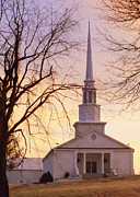 Country Church Prints - Wish You Were Here Print by Karen Wiles
